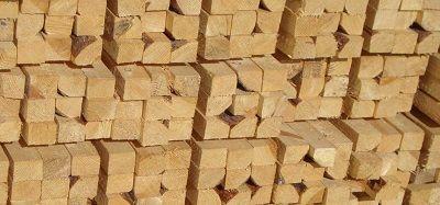 Брусок деревянный на складе
